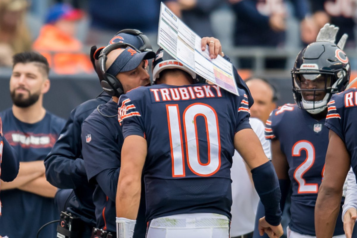 You are currently viewing Matt Nagy Claims Trubisky Benched Due to Injury