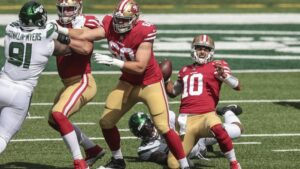 Read more about the article 49ers Win Despite Garoppolo and Bosa Injuries